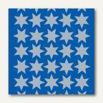 Herma Schmucketiketten, Sterne, Folie, silber, 16 mm, 10 x 3 Blatt, 4086