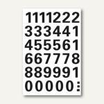 Herma Zahlen 0-9, 15 mm, wetterfest, Folie, schwarz, 10 x 1 Blatt, 4164
