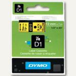 Dymo D1 Etikettenband, 12 mm x 7 m, schwarz auf gelb, S0720580