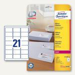 Zweckform Adress-Etiketten für C6-Kuverts, 63.5 x 38.1 mm, 840 St., L7160-40