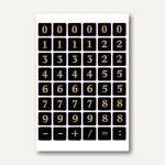 Herma Zahlen, 13mm, 0-9, Folie schwarz, gold geprägt, 10x2 Bl., 4131
