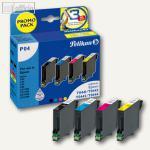Pelikan P04 Tintenpatronen-Bundle Bk, C, M, Y für Epson Stylus C64, 353504