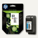 HP Tintenpatrone Nr. 23, farbig, 30 ml, C1823DE