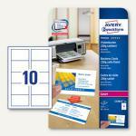 Zweckform Visitenkarten, 85 x 54 mm, 220g/m², satiniert, 250 Stück, C32016-25