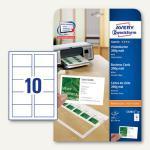 Zweckform Visitenkarten, 85 x 54 mm, 200 g/m², matt, 100 Stück, C32011-10