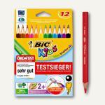 BIC Kids Dreikantbuntstifte Evolution Triangle, sortiert, 12 Stück, 907830