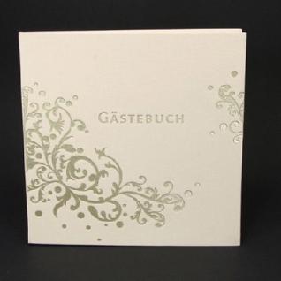 Gästebuch Ornament creme