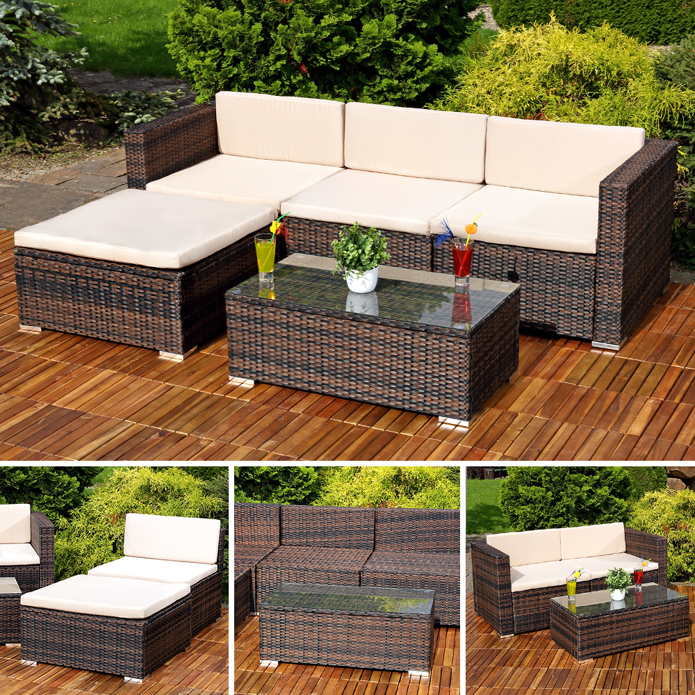 polyrattan gartenlounge gartengarnitur sofa braun kaufen bei mucola gmbh. Black Bedroom Furniture Sets. Home Design Ideas