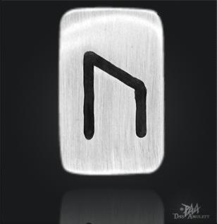 Runenplättchen/ Runenstein Uruz 925/000 Sterling Silber