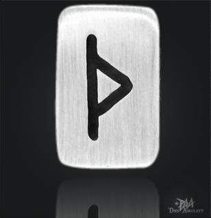 Runenplättchen/Runenstein Thurisaz 925/000 Sterling Silber