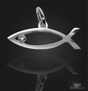 Ichthys Jesusfisch mit 925/000 Silberkette