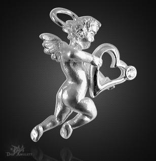Engelanhänger mit Herz aus 925/000 Silber