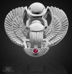 Skarabäus- Amulett groß 925/000 Sterling Silber