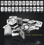 Runen Plättchen kompletter Satz 24 Stück 925/000