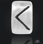 Runenplättchen Kenaz/Runenstein 925/000 Sterling Silber