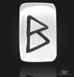 Runenplättchen/ Runenstein Berkana 925/000 Sterling Silber