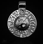 Sternzeichen Steinbock - Tierkreiszeichen Amulett 925/000 Sterlingsilber mit Kautschukband