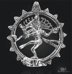 Shiva Amulett aus 925/000 Sterling Silber