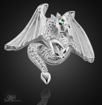 Der Drache aus 925/000 Sterling Silber