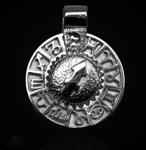 Sternzeichen Schütze - Tierkreiszeichen Amulett 925/000 Sterlingsilber mit Kautschukband