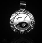 Sternzeichen Steinbock - ß 20mm 925/ Sterling Silber mit Kautschukband