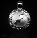 Sternzeichen Schütze - ß 20mm 925/000 Sterlingsilber mit Kautschukband