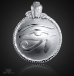 Großes Utchat Amulett aus 925/000 Sterling Silber ß41mm.
