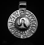 Sternzeichen Löwe - Tierkreiszeichen Amulett 925/000 Sterlingsilber mit Kautschukband