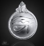 Utchat Amulett aus 925/000 Sterling Silber ß29mm