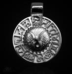 Sternzeichen Stier - Tierkreiszeichen Amulett aus 585/000, 14 Karat Weißgold