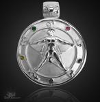 Agrippa Pentagramm aus 925/000 Sterling Silber