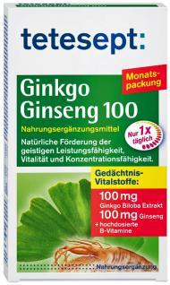 Tetesept Ginkgo Ginseng 100 Tabletten