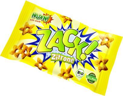 HELDEN! Snacks ZACK! Bio Zitrone