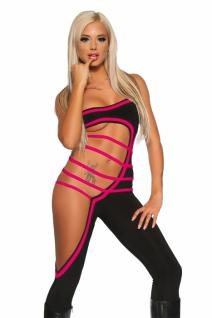 GoGo Overall Cut Out schwarz/pink