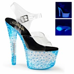 Plateau Sandalette Crystalize-308PS blau