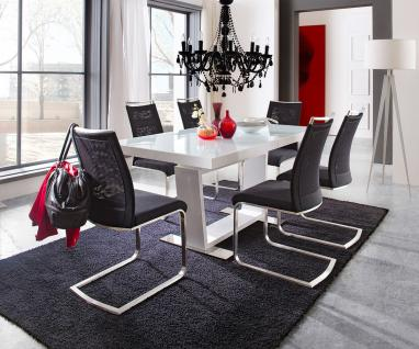 tisch malm 80 x 80 cm design k chentisch bistrotisch hochglanz weiss kaufen bei xtradefactory. Black Bedroom Furniture Sets. Home Design Ideas