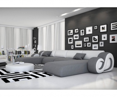 designer couch leder weiss online kaufen bei yatego. Black Bedroom Furniture Sets. Home Design Ideas