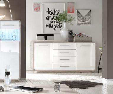sideboard braun hochglanz g nstig kaufen bei yatego. Black Bedroom Furniture Sets. Home Design Ideas