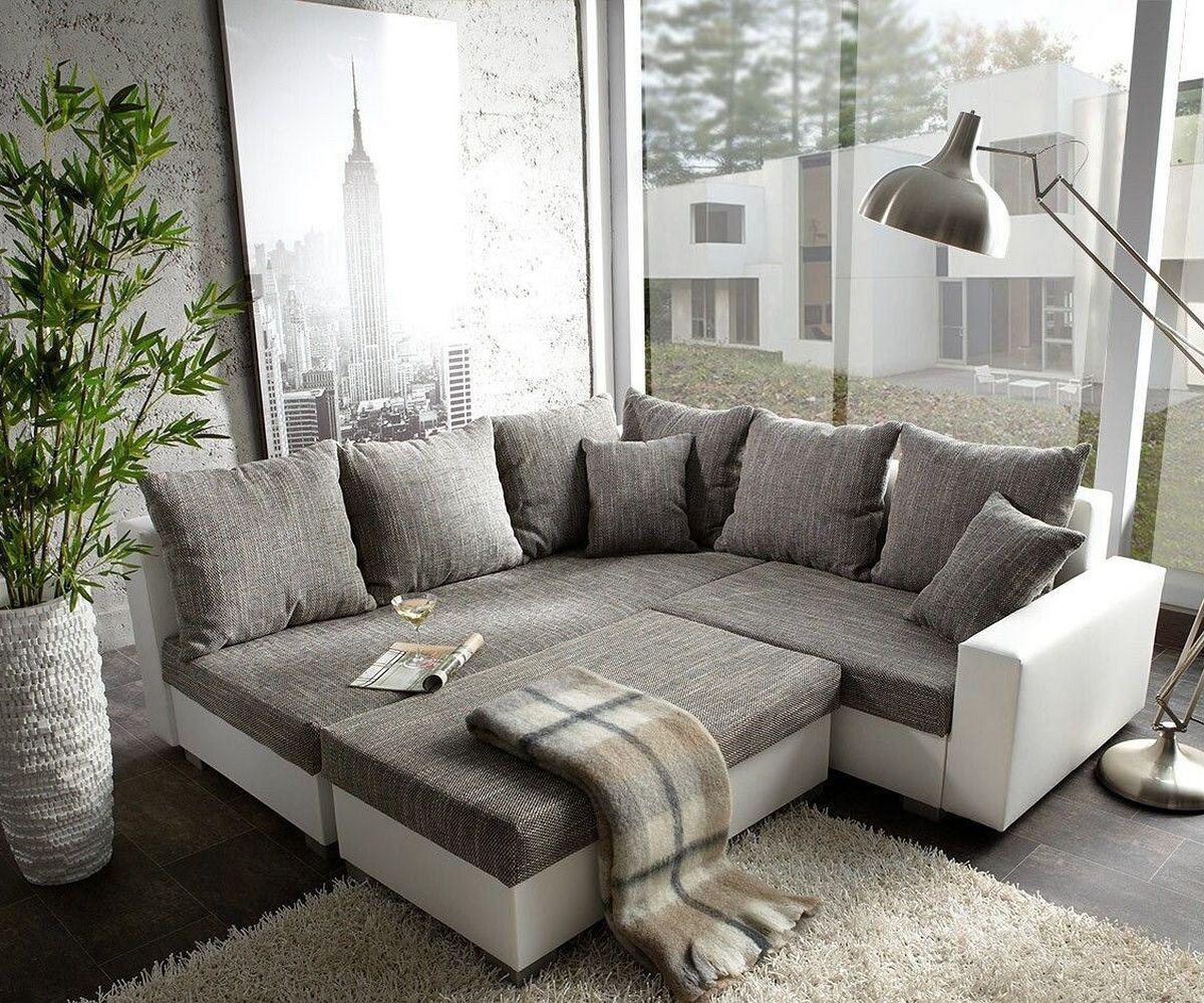 couch lavello grau weiss 210x210 ecksofa ottomane links. Black Bedroom Furniture Sets. Home Design Ideas