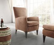 Designsessel Bolero Braun 65x78 cm Lounge Chair by Ultsch Sessel