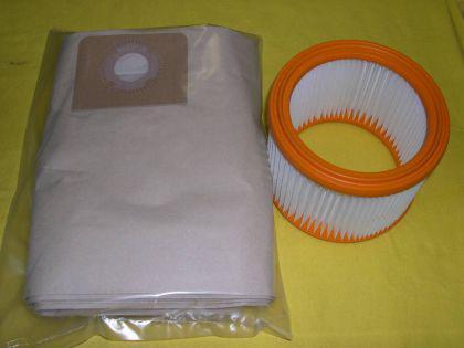 Set Filterelement + Filtersäcke für Wap Alto Turbo XL Sauger 14896 + 11753 - Vorschau
