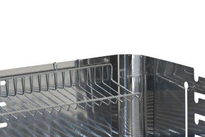 Rechteckgrill V2A Holzkohlel Säulengrill 530x340 - Vorschau 4