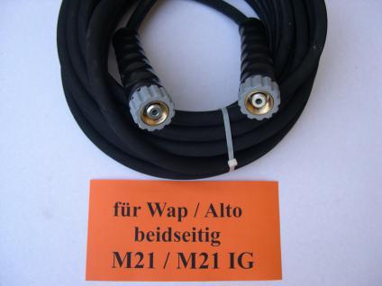 20m Profi - Hochdruckschlauch Schlauch M21/M21 für Wap Alto Hochdruckreiniger - Vorschau 1