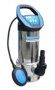 Profi Schmutzwassertauchpumpe 19000l/h Edelstahl 8m Förderhöhe / 230V Tauchpumpe - Vorschau