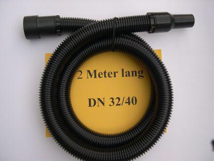 2m Saugschlauch 3tg kpl. mit Muffen 40mm Aldi Top Craft NT Sauger
