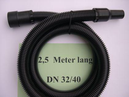 2,5m Saugschlauch 3tg m. Muffen 40mm Aldi Top Craft NT Sauger