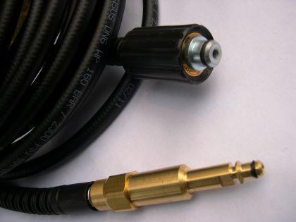 10m DN6 Hochdruckschlauch M22x1,5 / 8,8mm - Stecknippel Kärcher für Hochdruckreiniger - Pistole - Vorschau 2
