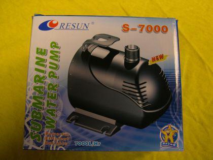 Resun S-7000 Teichfilterpumpe Filterspeisepumpe Bachlaufpumpe Wasserfallpumpe Strömungspumpe f. Teichfilter