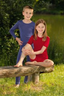 Kinder Unterhemd kurzarm aus Biowolle Seide