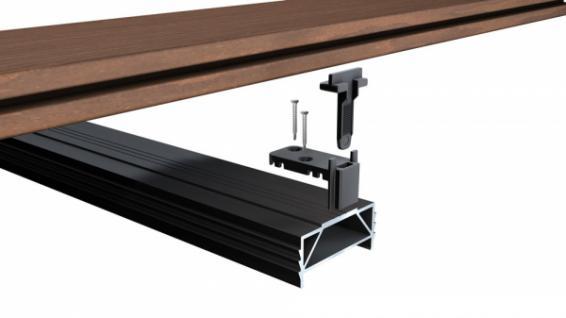 terrastart unsichtbare montage f r thermo wpc terrassendielen kaufen bei holzdirekt montagen. Black Bedroom Furniture Sets. Home Design Ideas